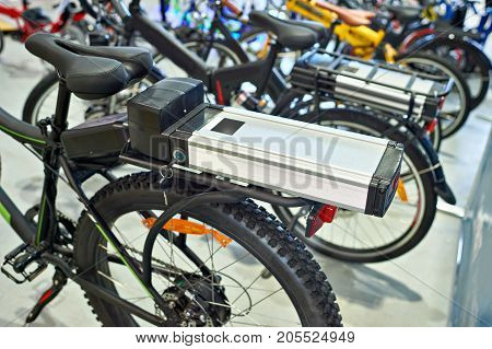 Lithium-ion Battery On Bike Luggage Carrier