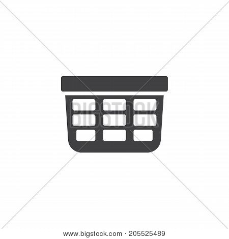 Laundry basket icon vector, filled flat sign, solid pictogram isolated on white. Symbol, logo illustration.