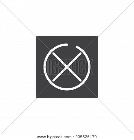 Do not tumble dry icon vector, filled flat sign, solid pictogram isolated on white. Symbol, logo illustration.