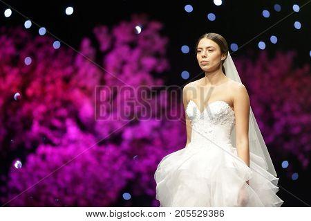 Fashion Show Runway Beautiful Wedding Dress