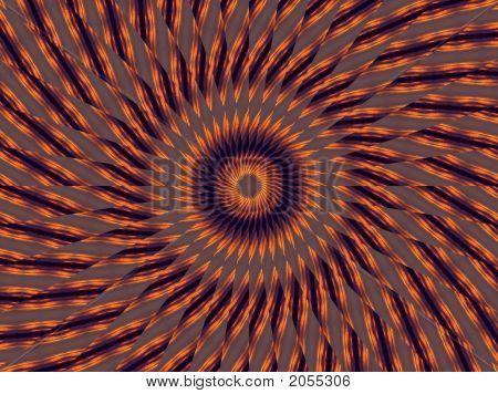 Rounds Of Striped Orange