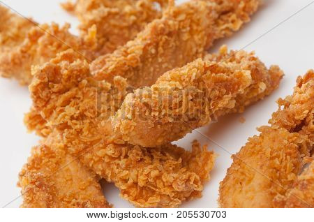 Chicken Pieces In Bread Crumbs