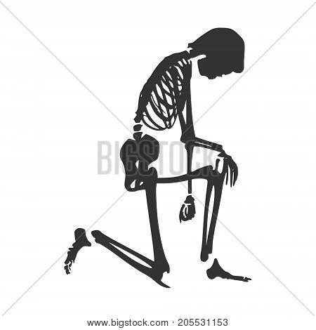 Human Skeleton Posing Vector & Photo (Free Trial) | Bigstock