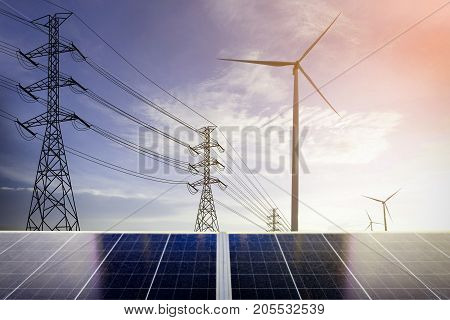 electrical energy, electrical energy Clean Energy Concept.