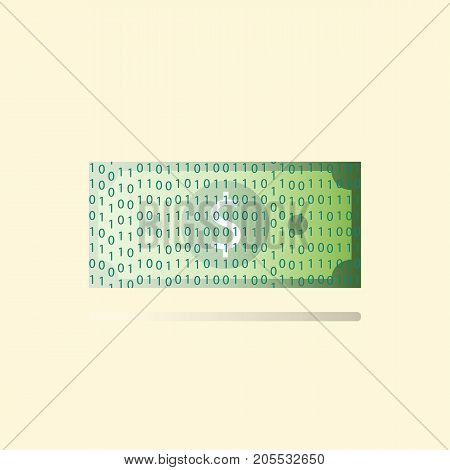 Concept of Cashless society. Business concept vector illustration