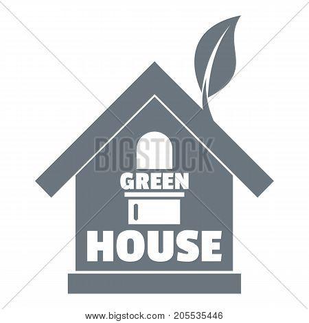 Green house logo. Simple illustration of green house vector logo for web