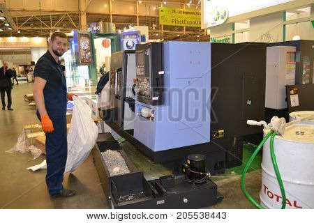 Kiev, Ukraine International Industrial Exhibition - November 25, 2016: - industrial machinery, Industrial equipment, industry facilities and machine tools, machinery lathes