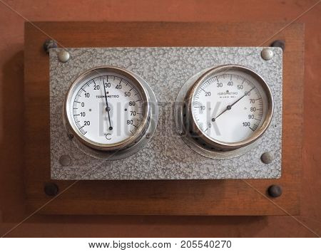Vintage Thermometer And Hygrometer