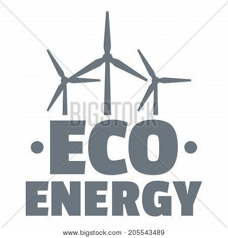 Eco energy logo. Simple illustration of eco energy vector logo for web