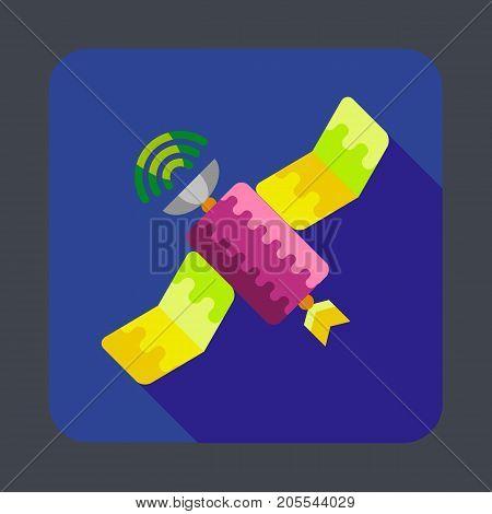 Space satellite concept background. Cartoon illustration of space satellite vector concept background for web design