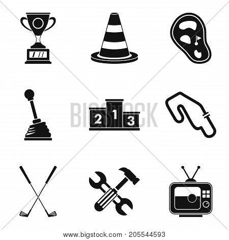 Titleholder icons set. Simple set of 9 titleholder vector icons for web isolated on white background
