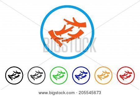 Firewood rounded icon. Style is a flat firewood orange symbol inside light blue circle with black, gray, green, blue, red, orange variants. Vector designed for web and software interfaces.