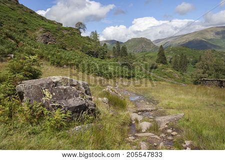 Landscape near Grasmere the Lake District Cumbria England.