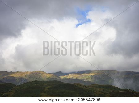 View from Silver Howe the Lake District Cumbria England.