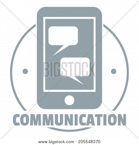 Communication phone logo. Simple illustration of communication phone vector logo for web