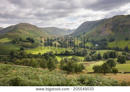 View from Hallin Fell Cumbria the Lake District England.
