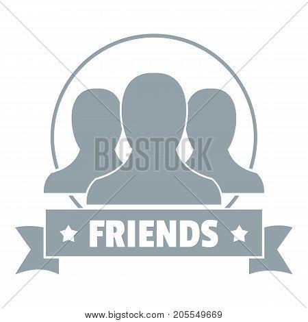 Friends logo. Simple illustration of friends vector logofor web