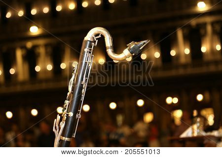 Detail Of A Sax During Live Concert At Night