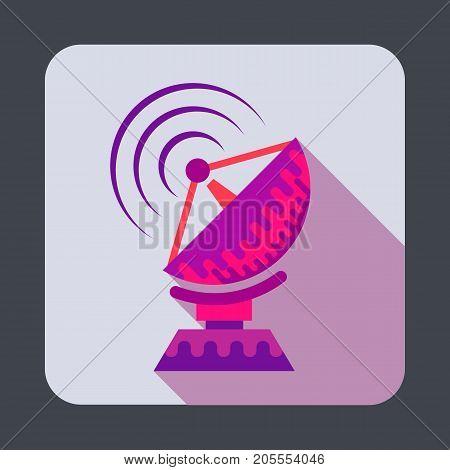 Parabolic antenna concept background. Cartoon illustration of parabolic antenna vector concept background for web design