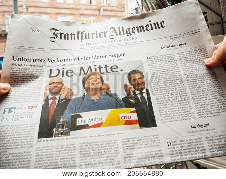 Elections Day For The Chancellor Of Germany  Angela Merkel Wins