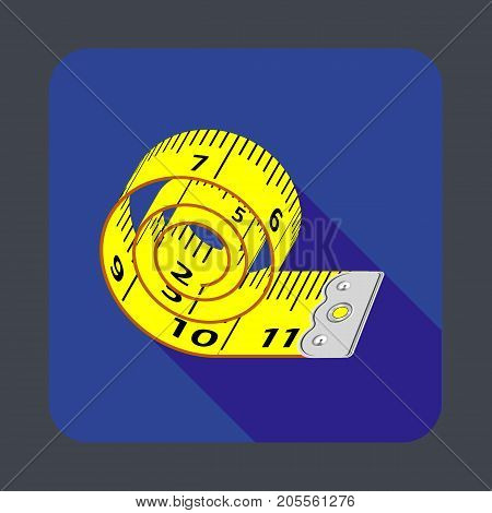 Measuring tape concept background. Cartoon illustration of measuring tape vector concept background for web design