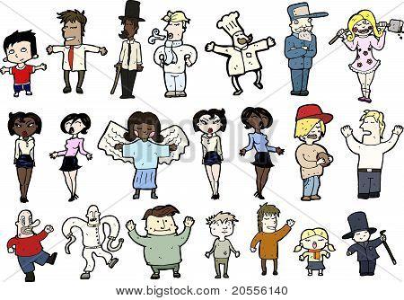 Various Cartoon People