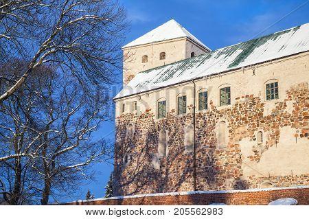 Turku Castle In Winter Time