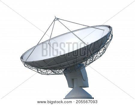 3D Rendered Illustration Of Satellite Dish Or Radio Antenna. Iso