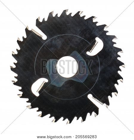 a circular saw blade, isolated on white