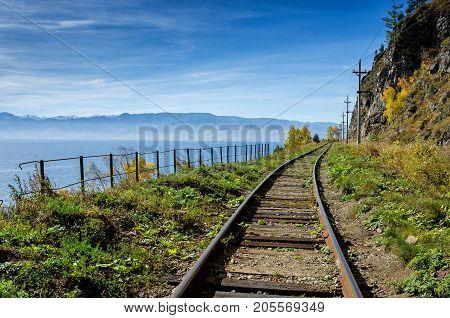 Autumn on Circum-Baikal Railway, Eastern Siberia, Irkutsk region