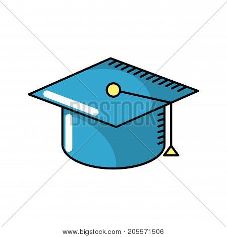 cap graduation to ceremony sucess vector illustration