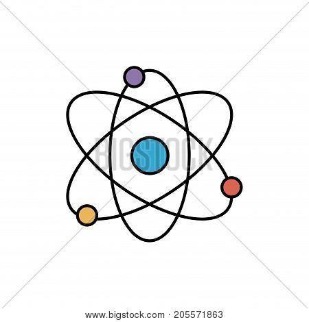 physics orbit chemistry science education vector illustration