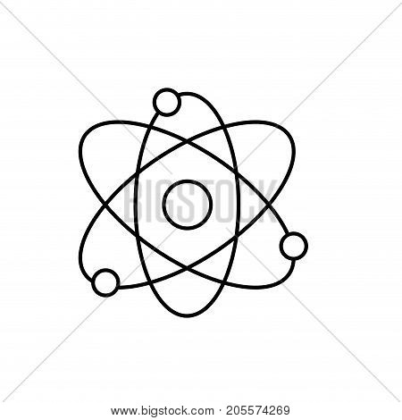 line physics orbit chemistry science education vector illustration