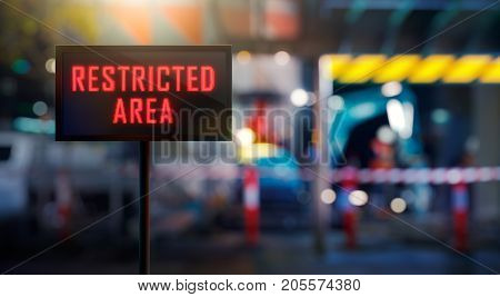 LED Display - Restricted Area Signage (Photo + 3D Rendering)