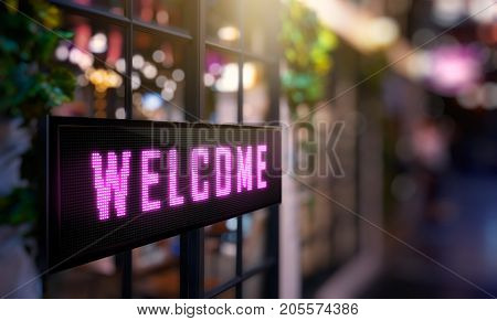 LED Display - Welcome signage (Photo + 3D Rendering)