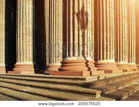 Architecture of St Petersburg Russia. Kazan Cathedral colonnade - architecture landscape. Architecture view of colonnade
