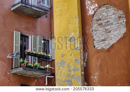 Brisighella (Ravenna Emilia Romagna Italy): old typical buildings