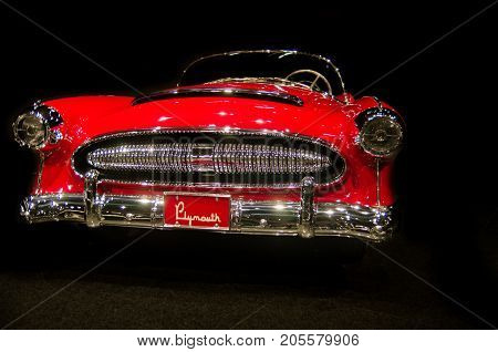 1954 Plymouth Belmont Convertible Concept Car Presented In Blackhawk Museum. Ca. Usa
