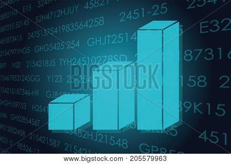 Vector illustration of the global business and digital technologies.