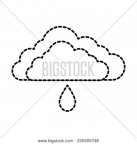 cloud sky with drop vector illustration design