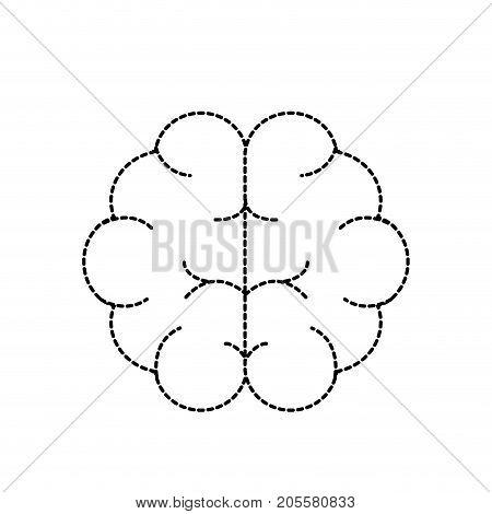 dotted shape brain human anatomy organ of inteligence vector illustration