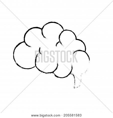figure side brain human anatomy organ of inteligence vector illustration
