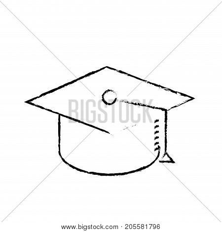 figure cap graduation to ceremony sucess vector illustration