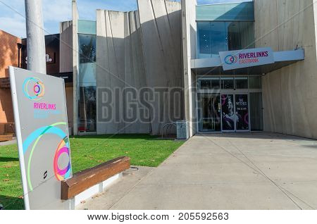 Shepparton, Australia - June 12, 2017: Riverlinks Eastbank is a theatre and arts venue in the rural city of Shepparton.