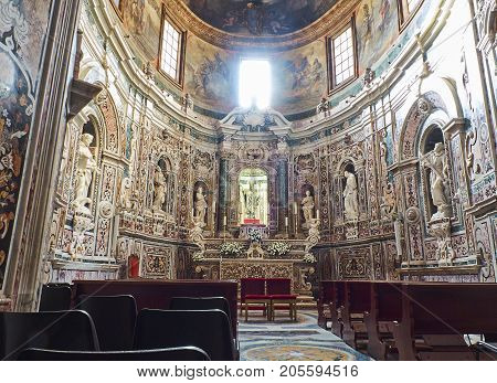 Basilica Cathedral Of San Cataldo In Taranto. Apulia, Italy.