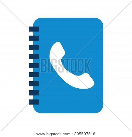 address book contact client communication vector illustration
