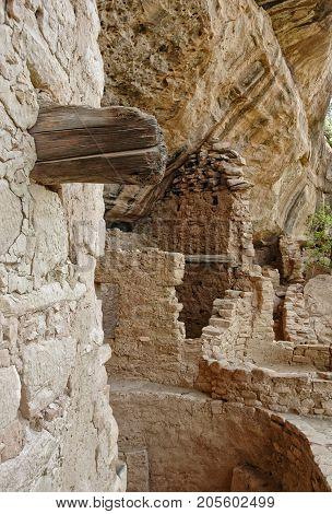 details of a prehistoric city built into the cliffs at Mesa Verde, Colorado