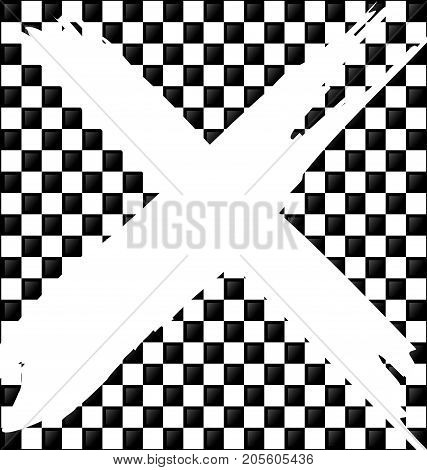 abstract colored background image consisting of lines with white black glossy blocks and sign prohibition