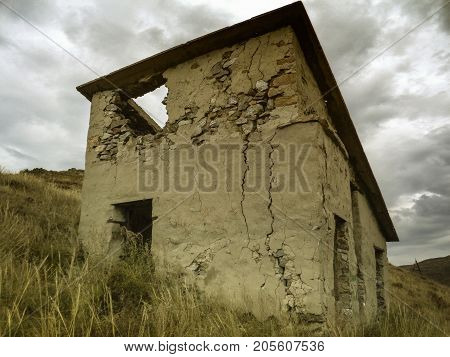 Old fortification on the Irtysh river in Ust-Kamenogorsk.Old architecture. Historic architecture. Old city. Historical heritage.