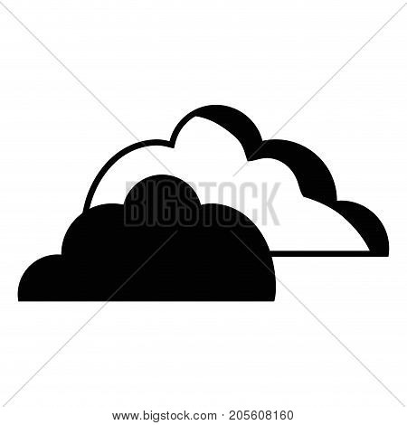 contour nice clouds natural weather design vector illustration